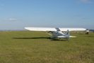 1 to 1 scale Piper Cub visit by site owner, Fence added to partition field prevents visits now